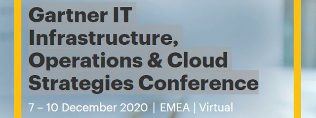 Gartner IT Infrastructure, Operations & Cloud Strategies Conference 2020 UK
